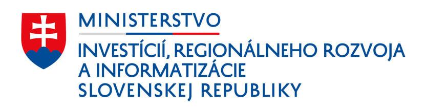 Logo Ministerstva investícií, regionálneho rozvoja a informatizácie