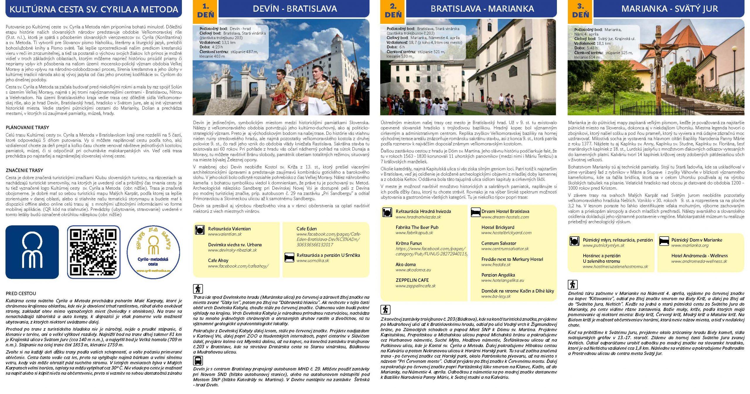 Leták Európska kultúrna cesta sv. Cyrila a Metoda